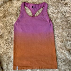 Organic Cotton Ombré Fade Built In Bra Yoga Tank